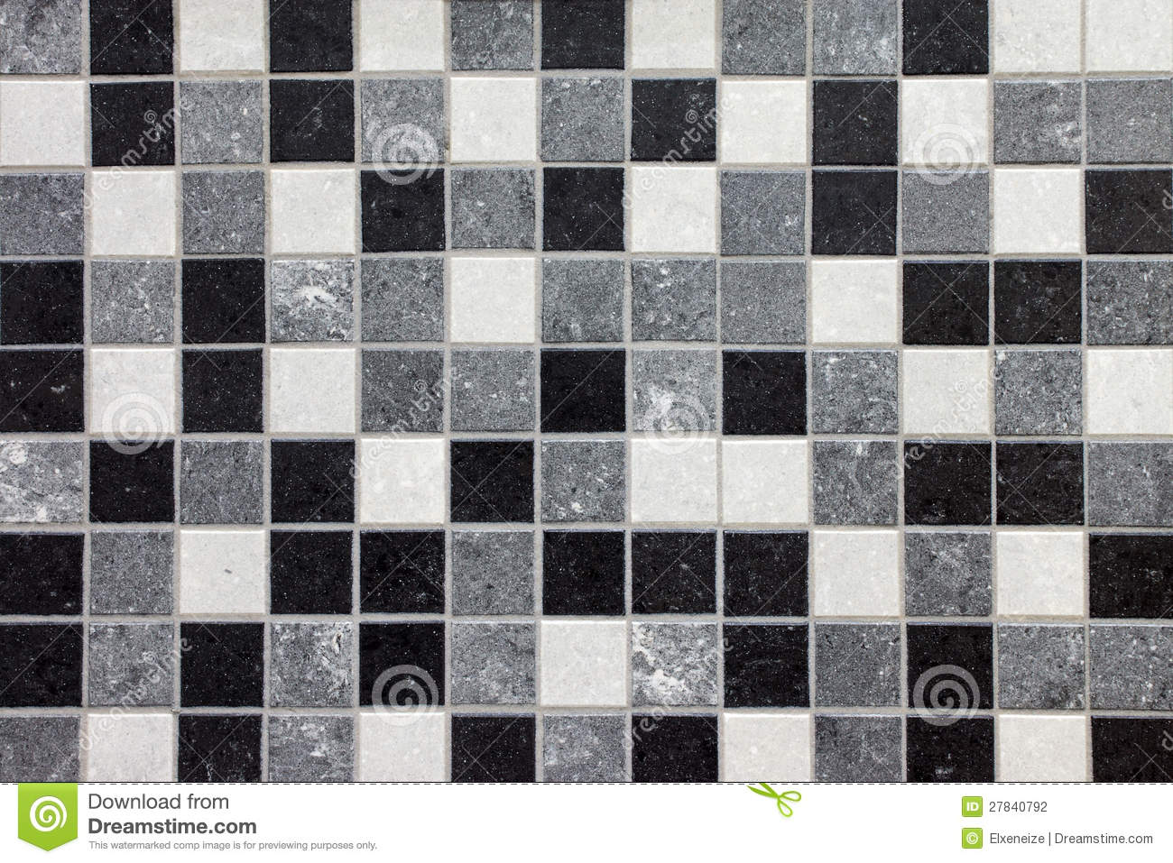 Piastrelle Quadrate Grigie Black White And Gray Mosaic Tiles Stock Photography