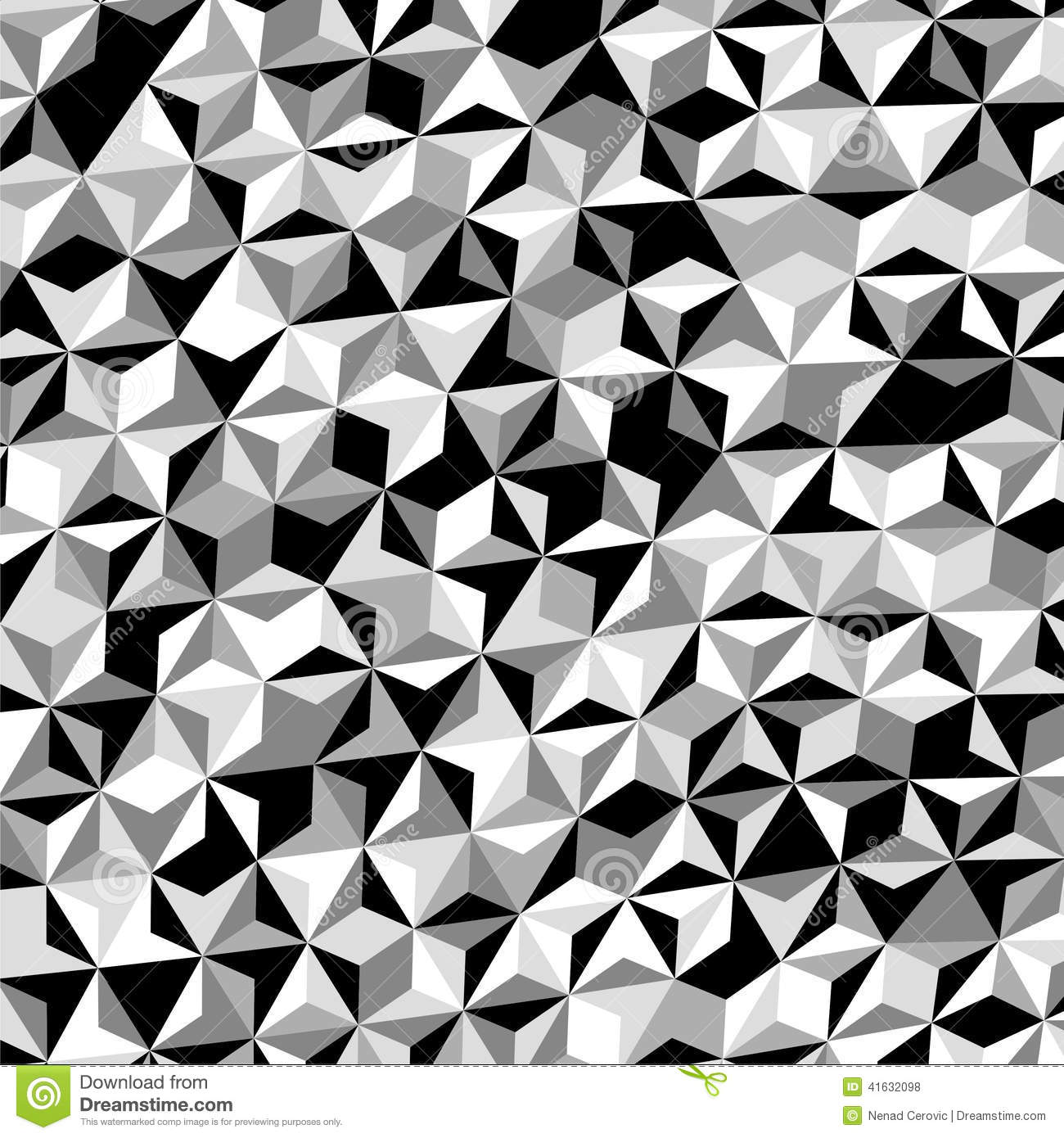 Grey And White Pattern Black White Gray Triangle Pattern Vector Stock Vector