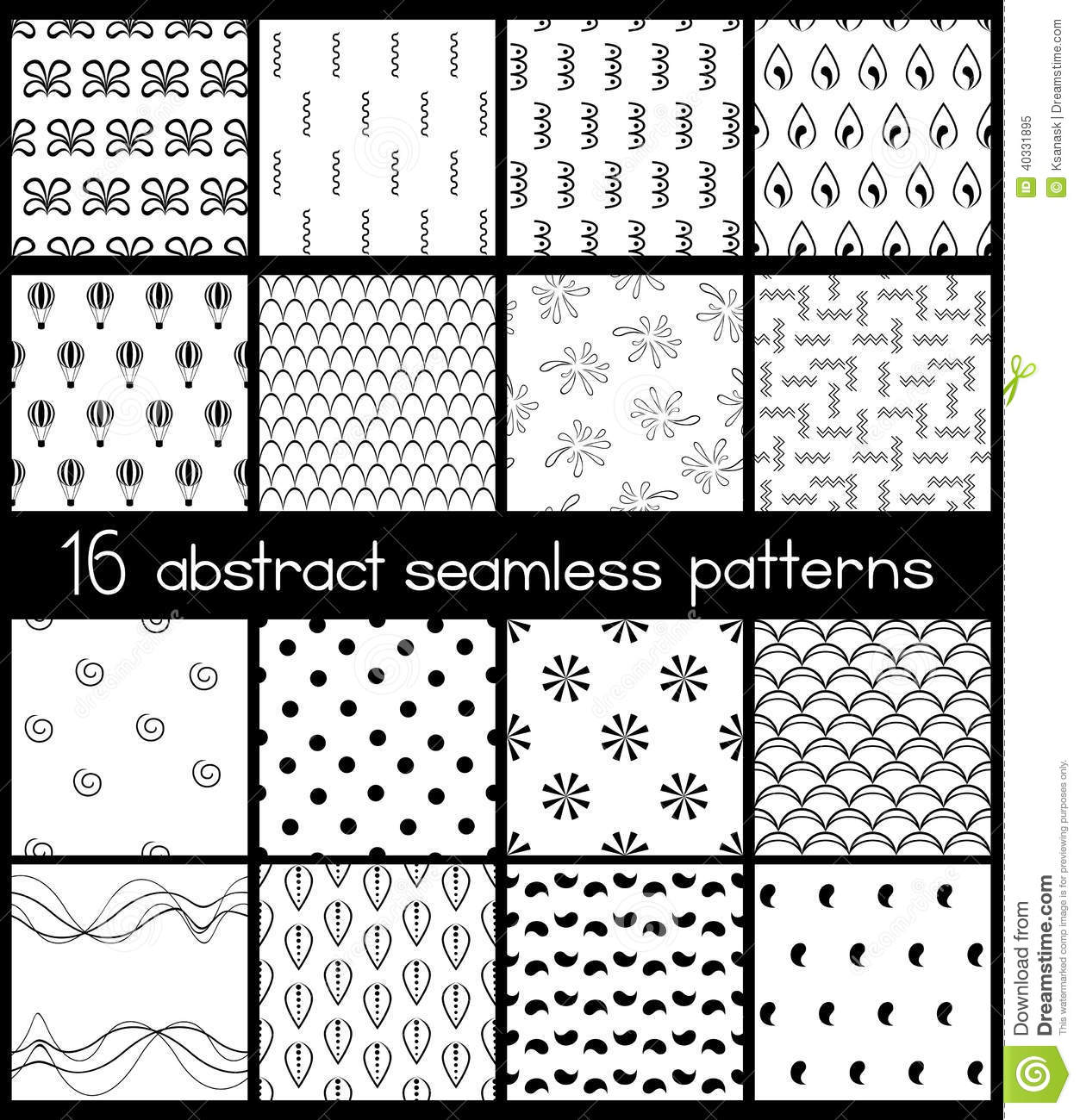 Black And White Dot Wallpaper Black And White Simple Patterns Stock Vector Image 40331895