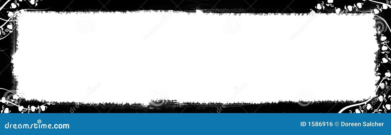 Black And White Text Border Stock Illustration - Illustration of