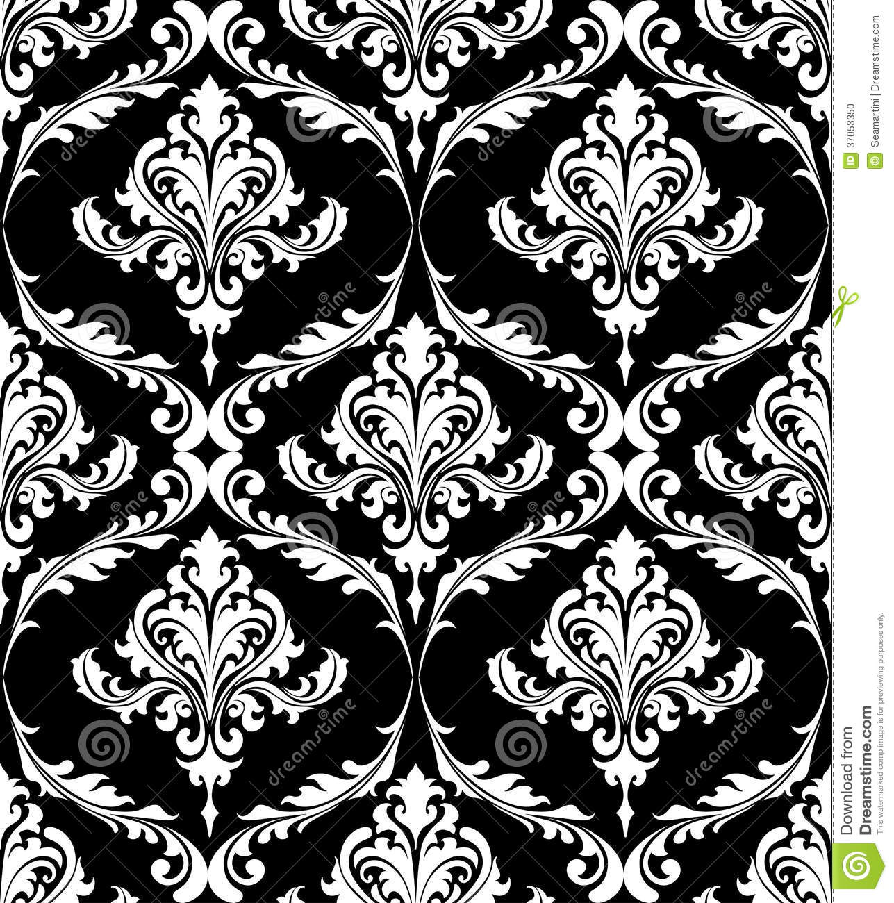Cool Black And White Posters Black And White Vintage Damask Pattern Stock Vector