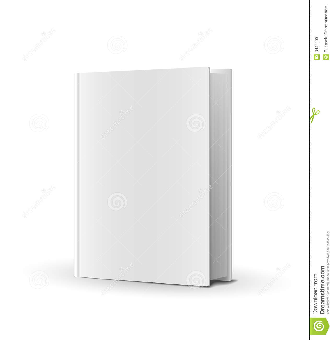 Big W Book Covers Blank Book Cover Over White Stock Vector Illustration Of