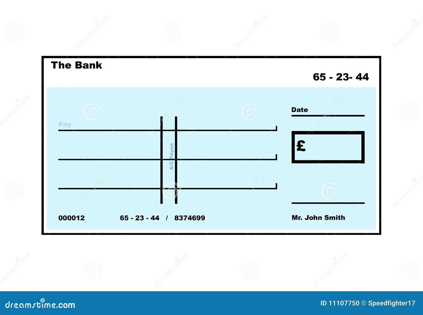 cheque copy template