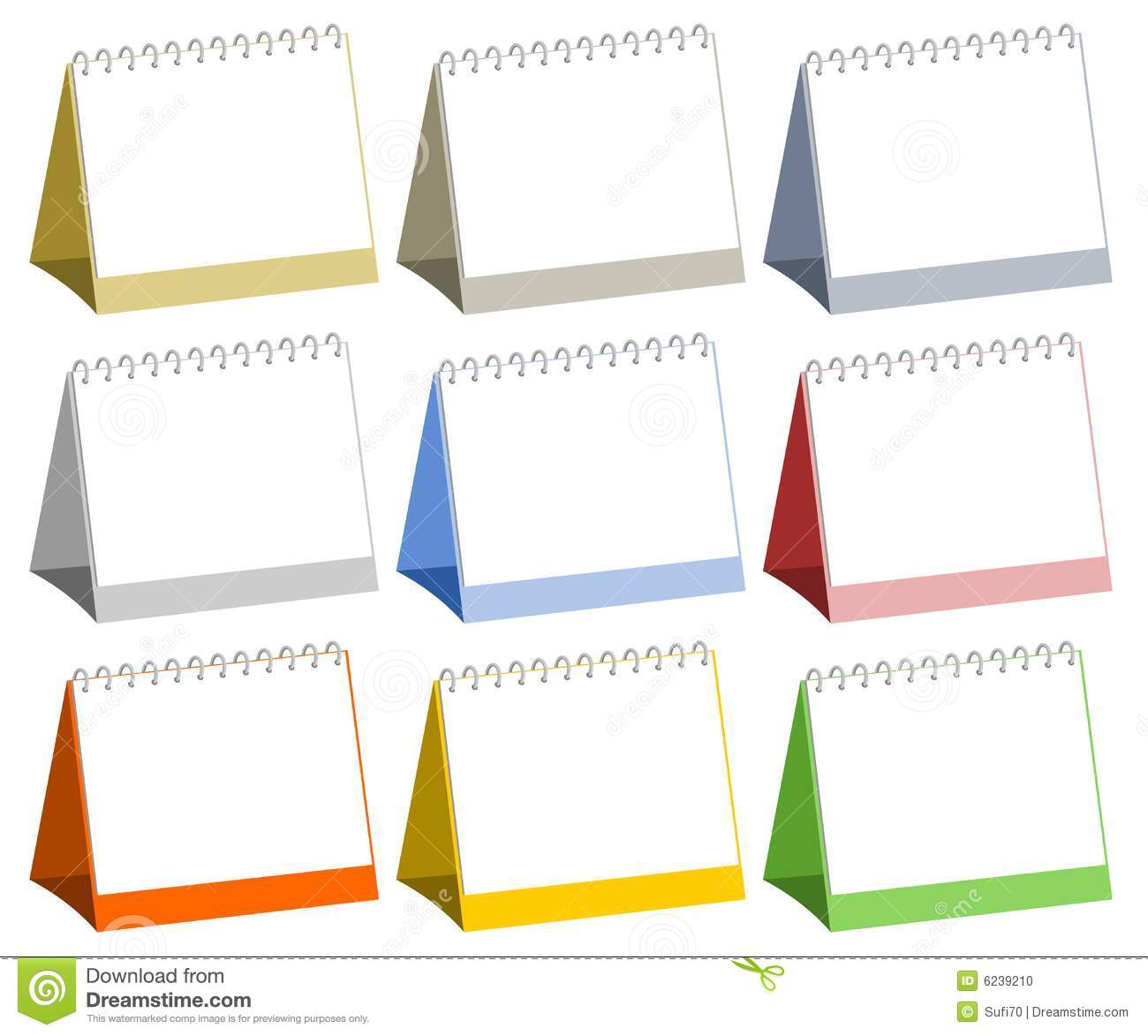 Calendar Clipart Stock Photos Pictures Royalty Free Blank Table Calendars Stock Photo Image 6239210