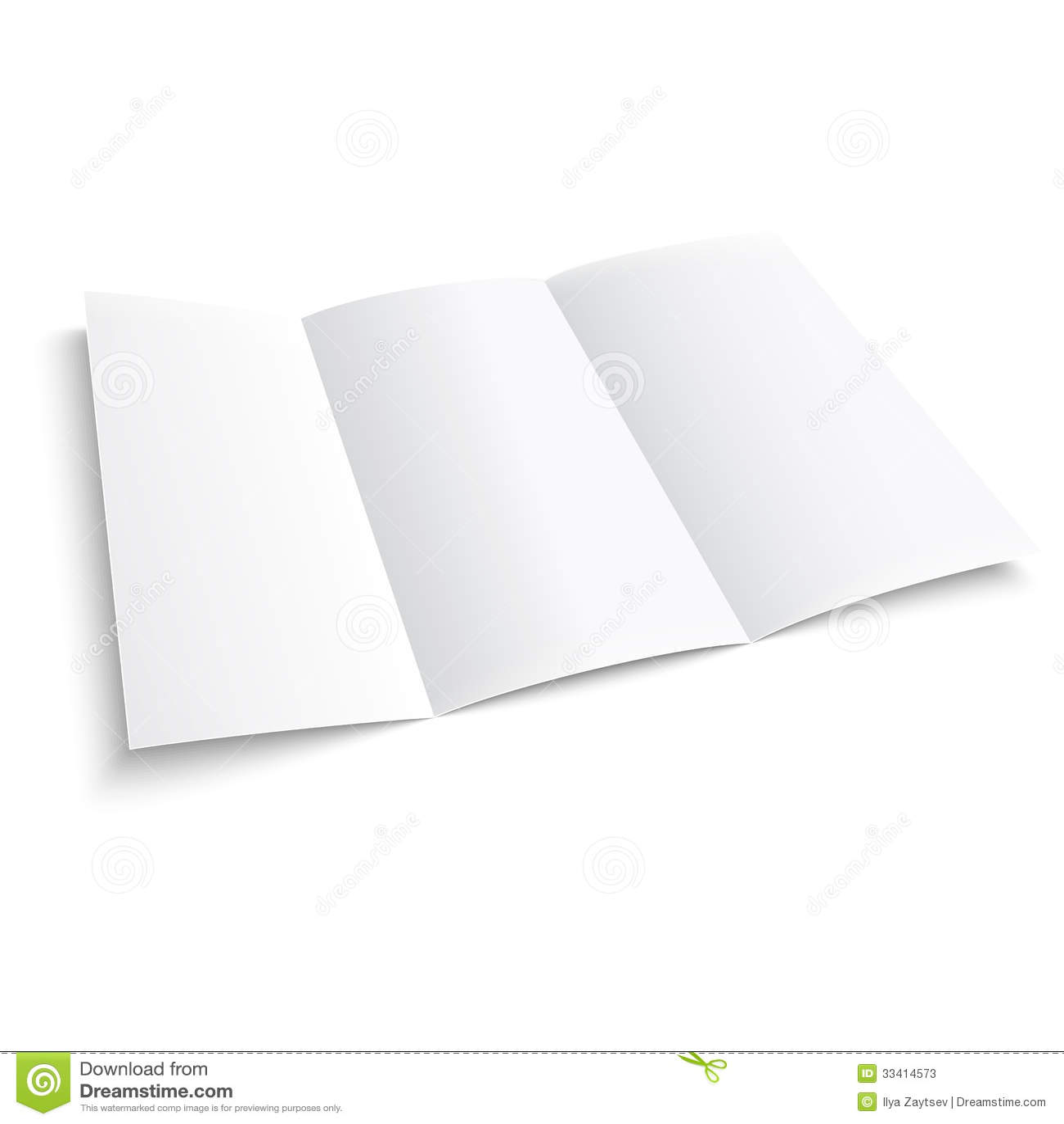 tri folded paper