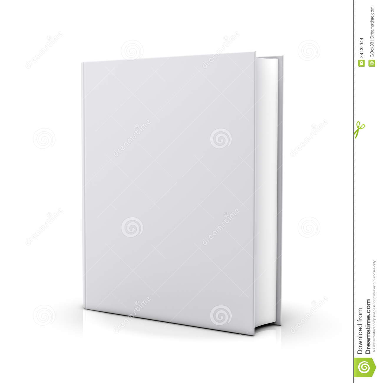 Big W Book Covers Blank White Book Cover Stock Illustration Illustration Of