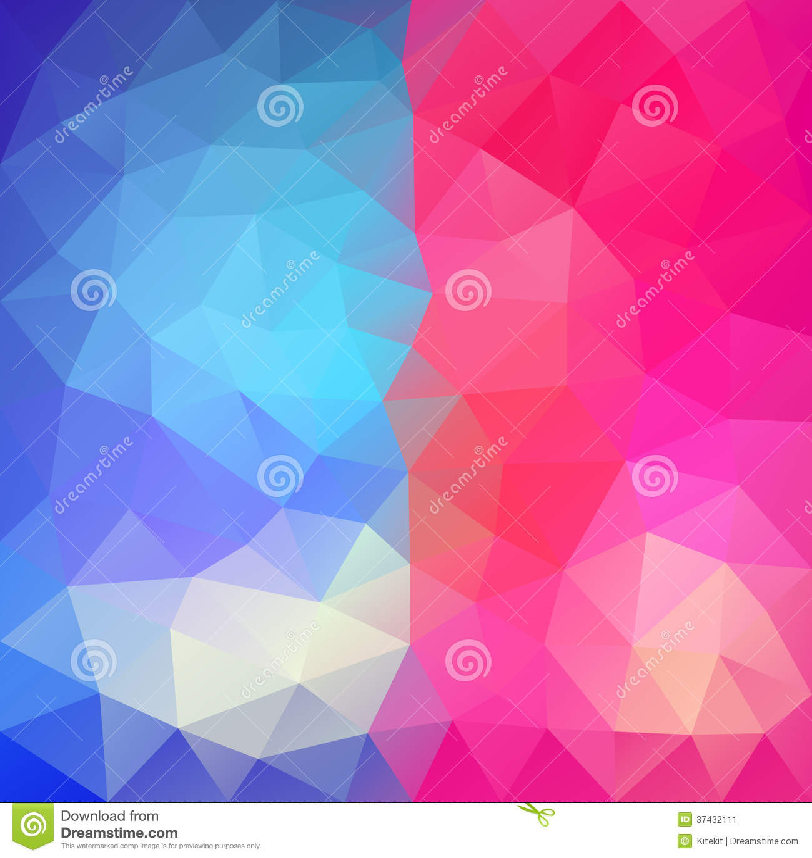 Iphone X Frame Wallpaper Blauw Roze Abstracte Veelhoekige Achtergrond Vector