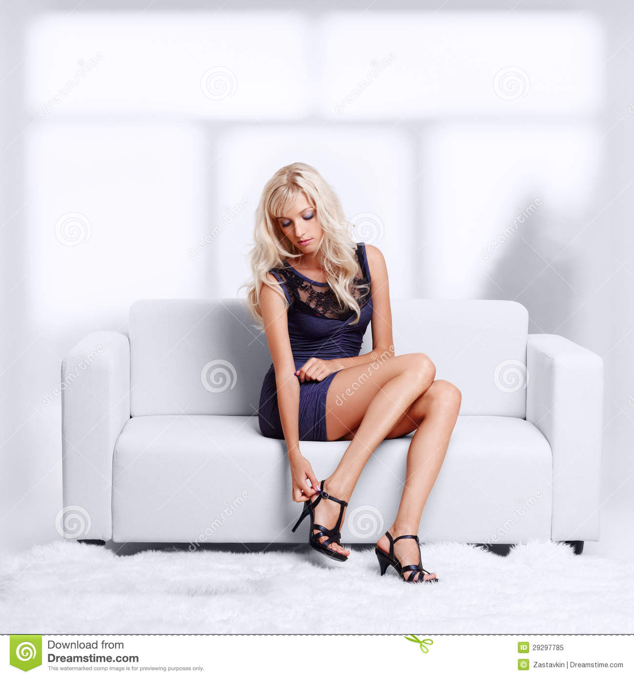 Free Sexmovie Blond Sofa Blond Girl On Sofa Royalty Free Stock Photo - Image: 29297785