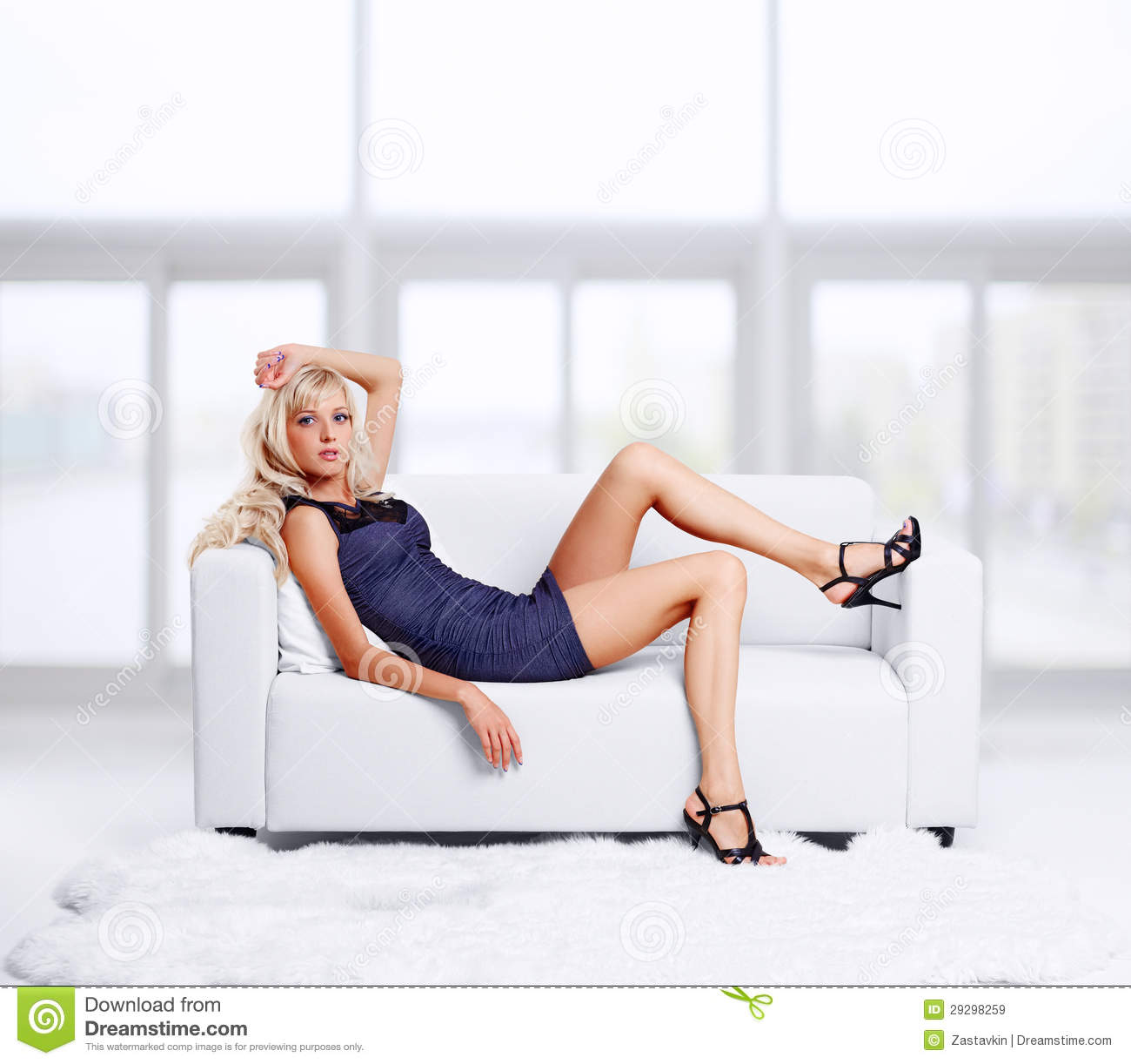 Free Sexmovie Blond Sofa Blond Girl On Sofa Royalty Free Stock Images - Image: 29298259