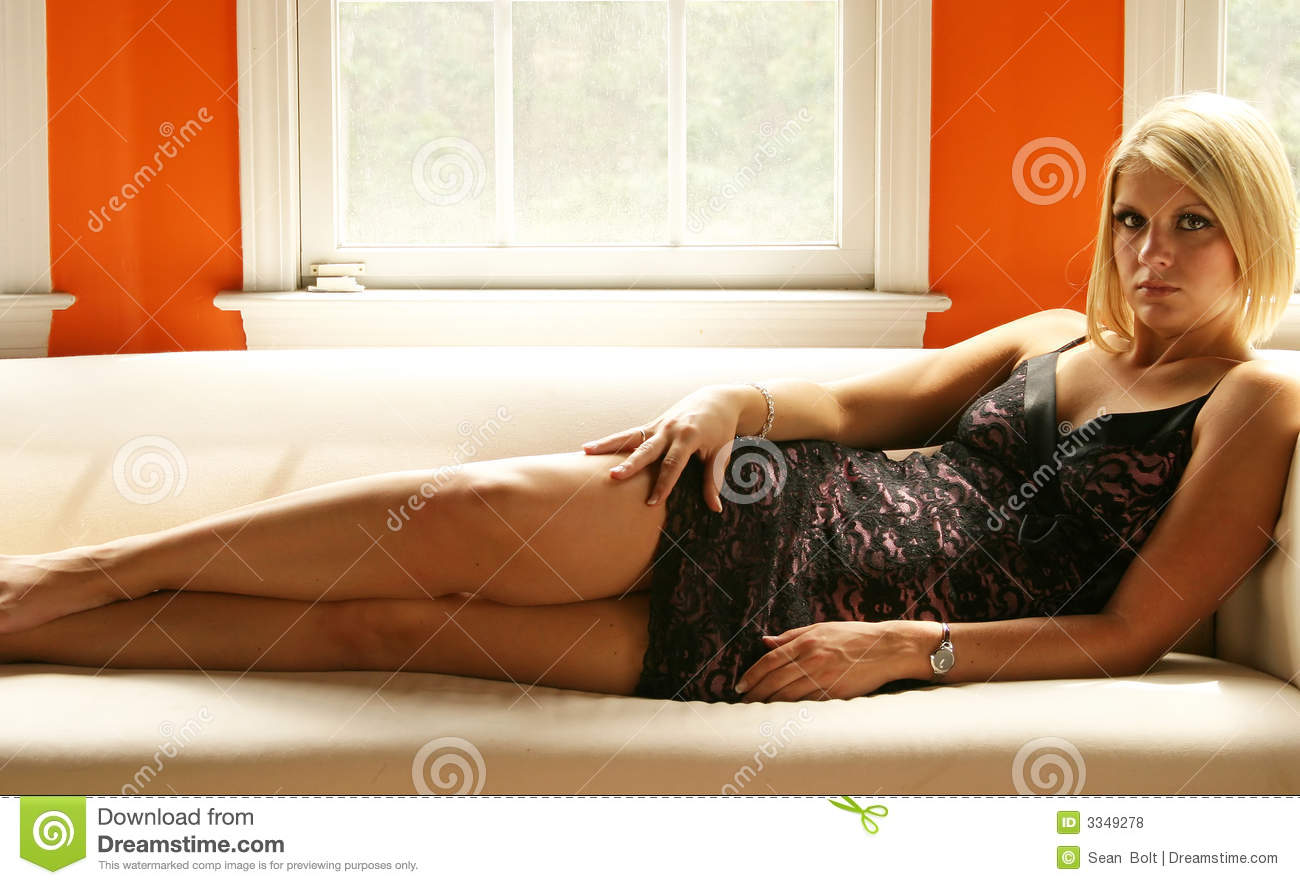 Free Sexmovie Blond Sofa Blond Woman On Couch Royalty Free Stock Photos - Image