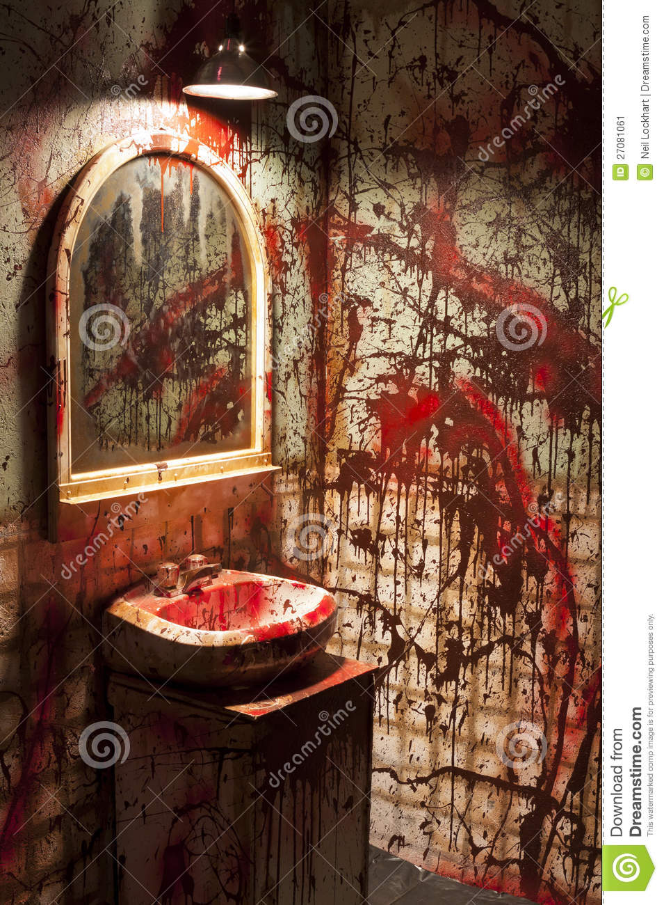 Set Baño Bloody Bathroom Set (fake) Stock Image. Image Of Restroom