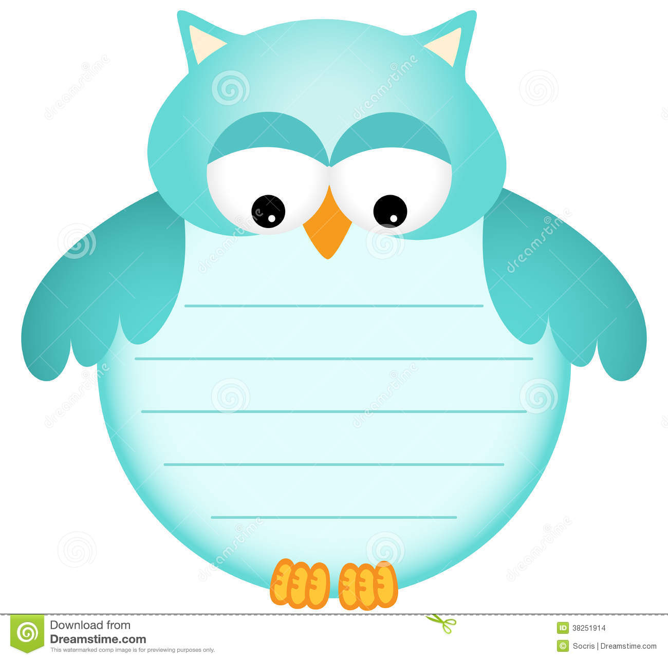 Cute Lockets Wallpaper Blue Baby Owl With Label Stock Images Image 38251914