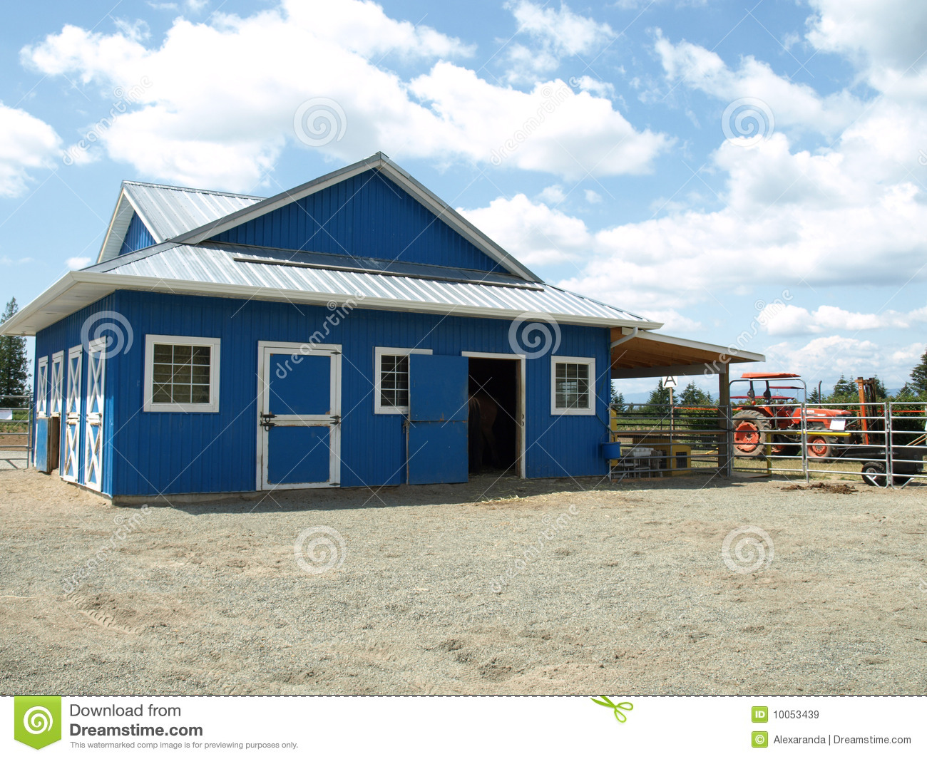Fall Farm Wallpaper Blue Barn In A Farm Royalty Free Stock Images Image