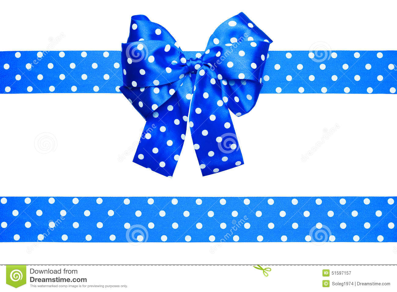Black And White Dot Wallpaper Blue Bow And Ribbon With White Polka Dots Made From Silk