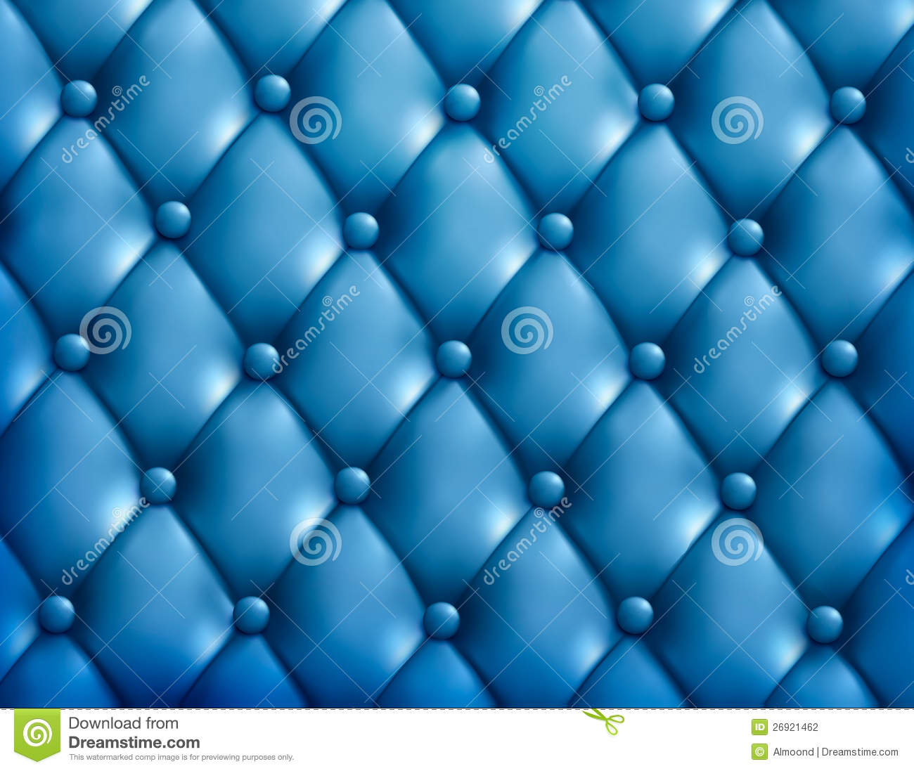 Plain Black Wallpaper Blue Button Tufted Leather Background Stock Illustration