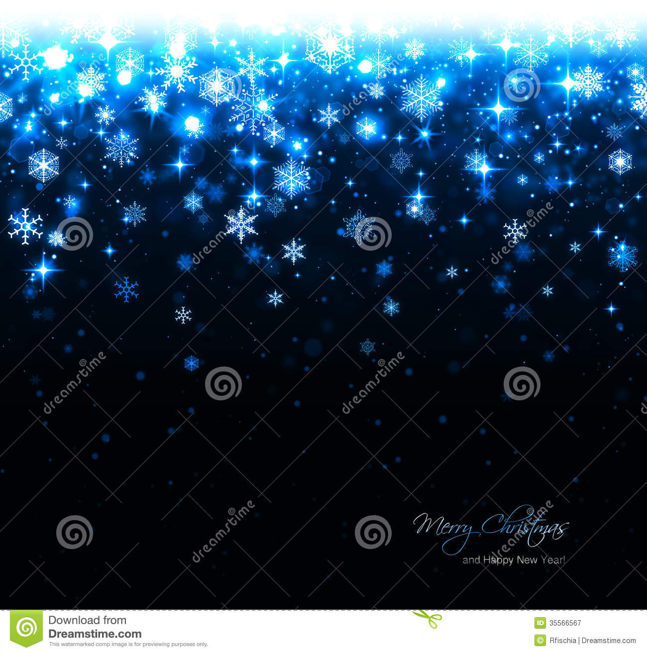 christmas card background blue