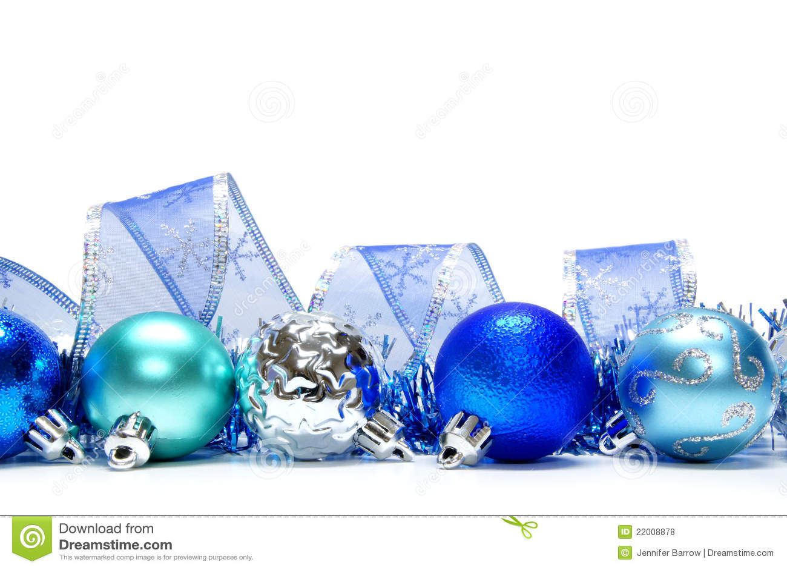 blue christmas border