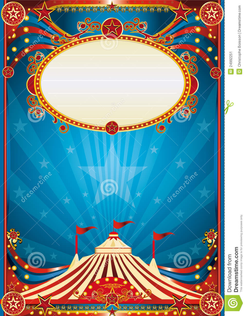 Circus Tent Stock Vector Auto Electrical Wiring Diagram Fenwal Ignition Module 35 655921 001 Blue Background Illustration Of Party