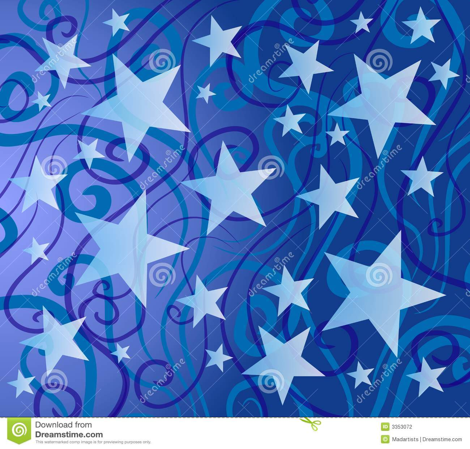 Sad Animation Wallpaper Blue Colorful Stars Pattern Stock Photography Image 3353072