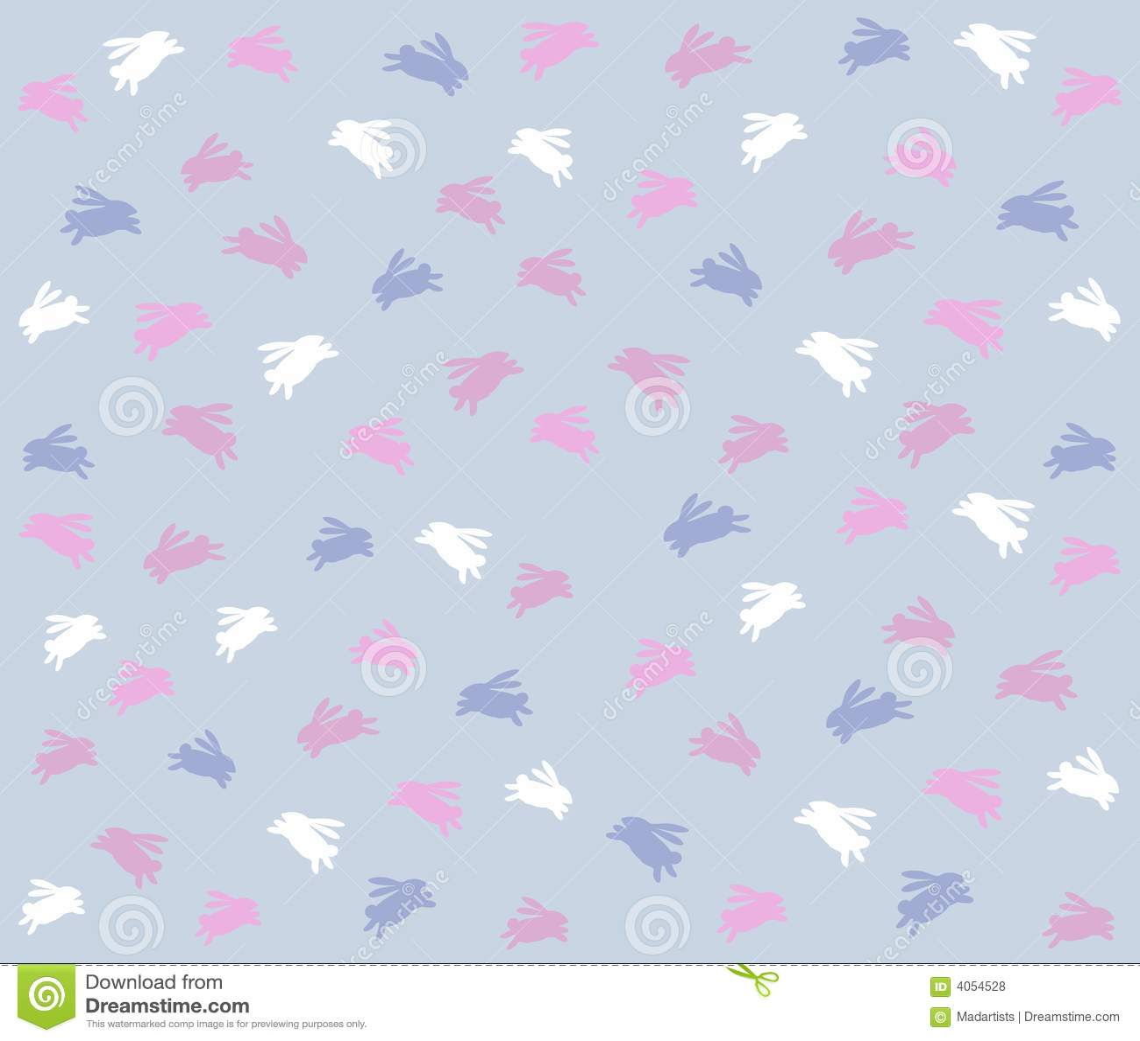 Animal Print Iphone 5 Wallpaper Blue Easter Bunny Background Pattern Stock Illustration