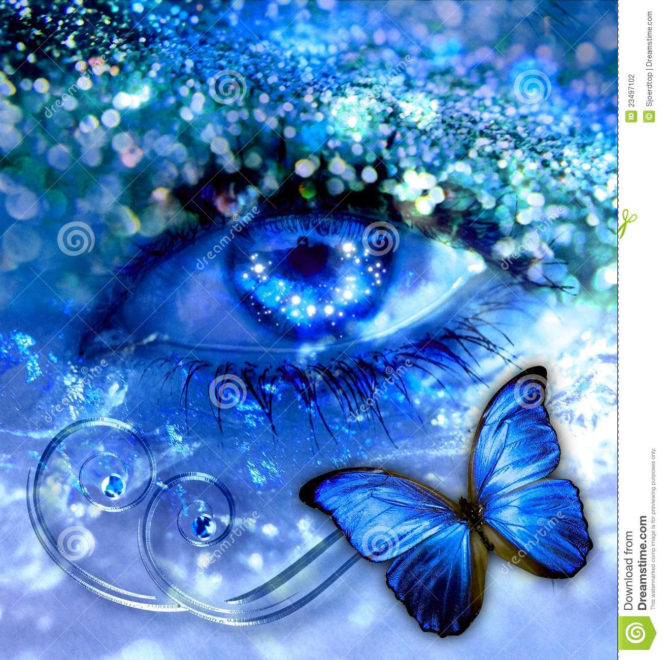 Kiss Wallpaper Full Hd Blue Eye With A Butterfly Stock Photo Image Of Background