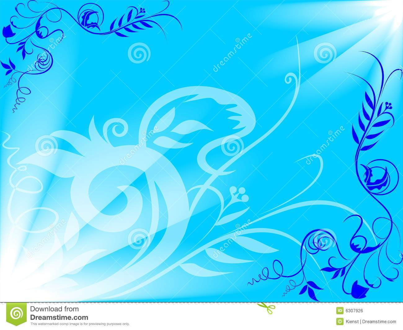 Background Pastel Biru Blue Flower Background Stock Vector. Image Of Party