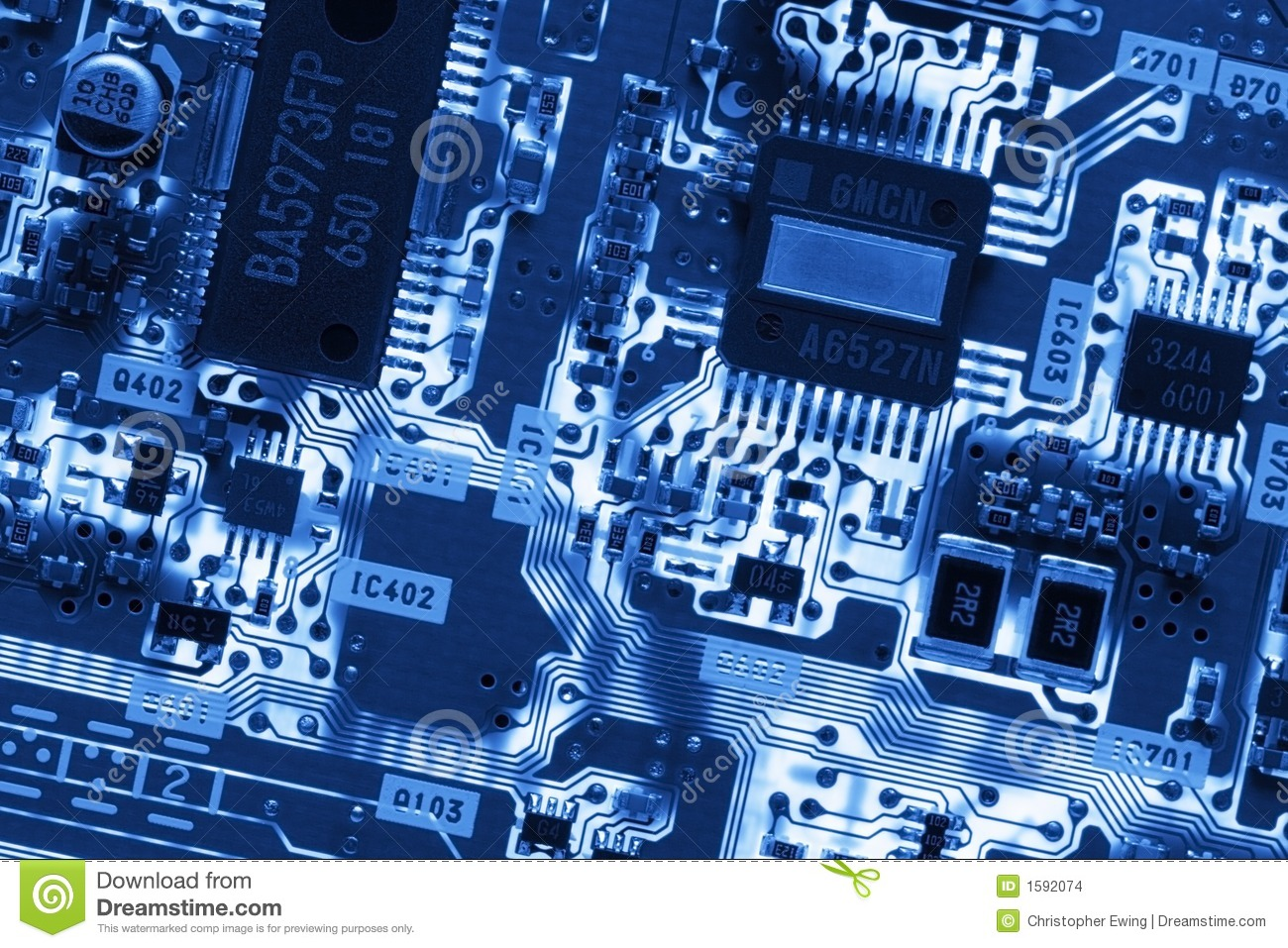 Iphone X Motherboard Wallpaper Blue Glowing Circuit Board Stock Images Image 1592074