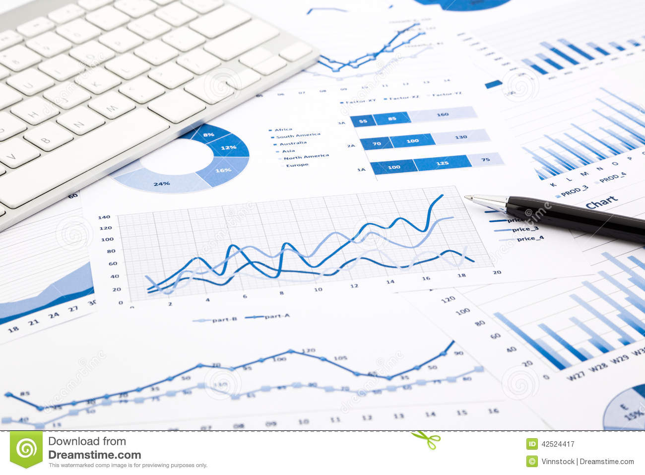 Advantage Max 4 Hd Wallpaper Blue Graph And Chart Reports On Office Table Stock Image