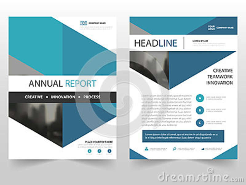 Blue Hexagon Business Brochure Leaflet Flyer Annual Report Template
