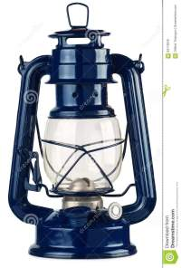 Blue Kerosene Lantern Isolate Stock Photo - Image: 63176916