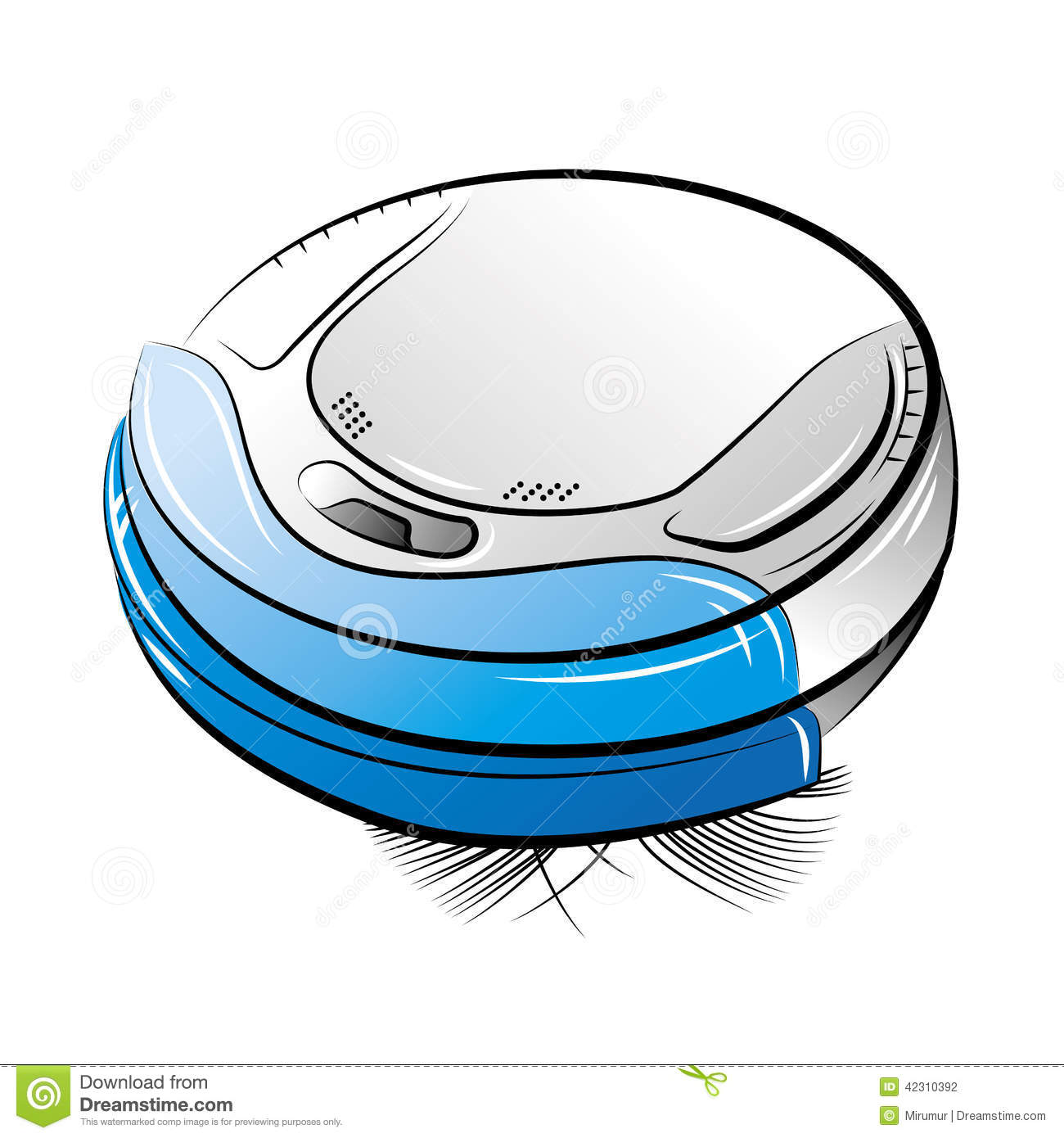 Blue robotic vacuum cleaner stock vector image 42310392