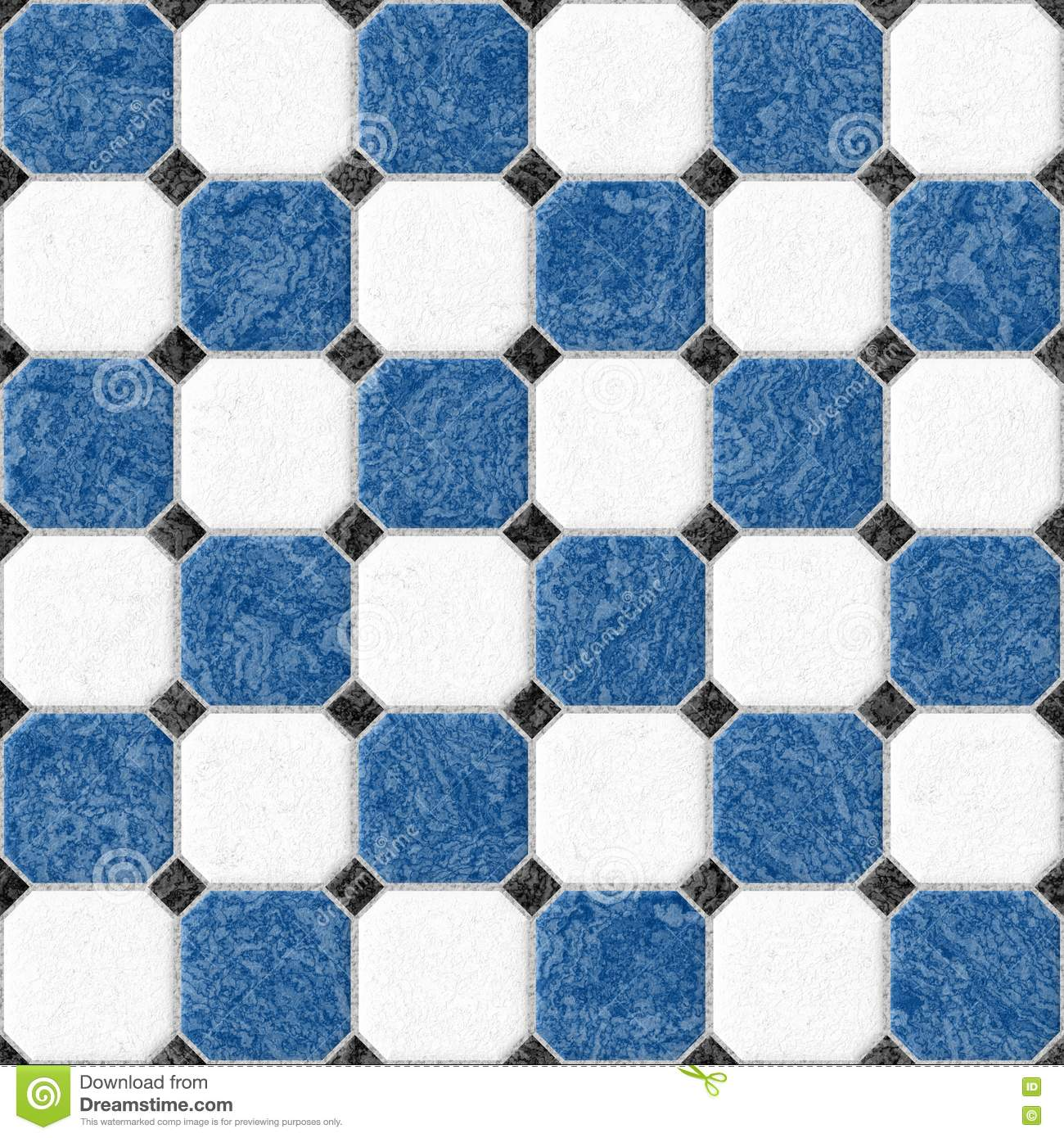 Bathroom Tiles Blue And White