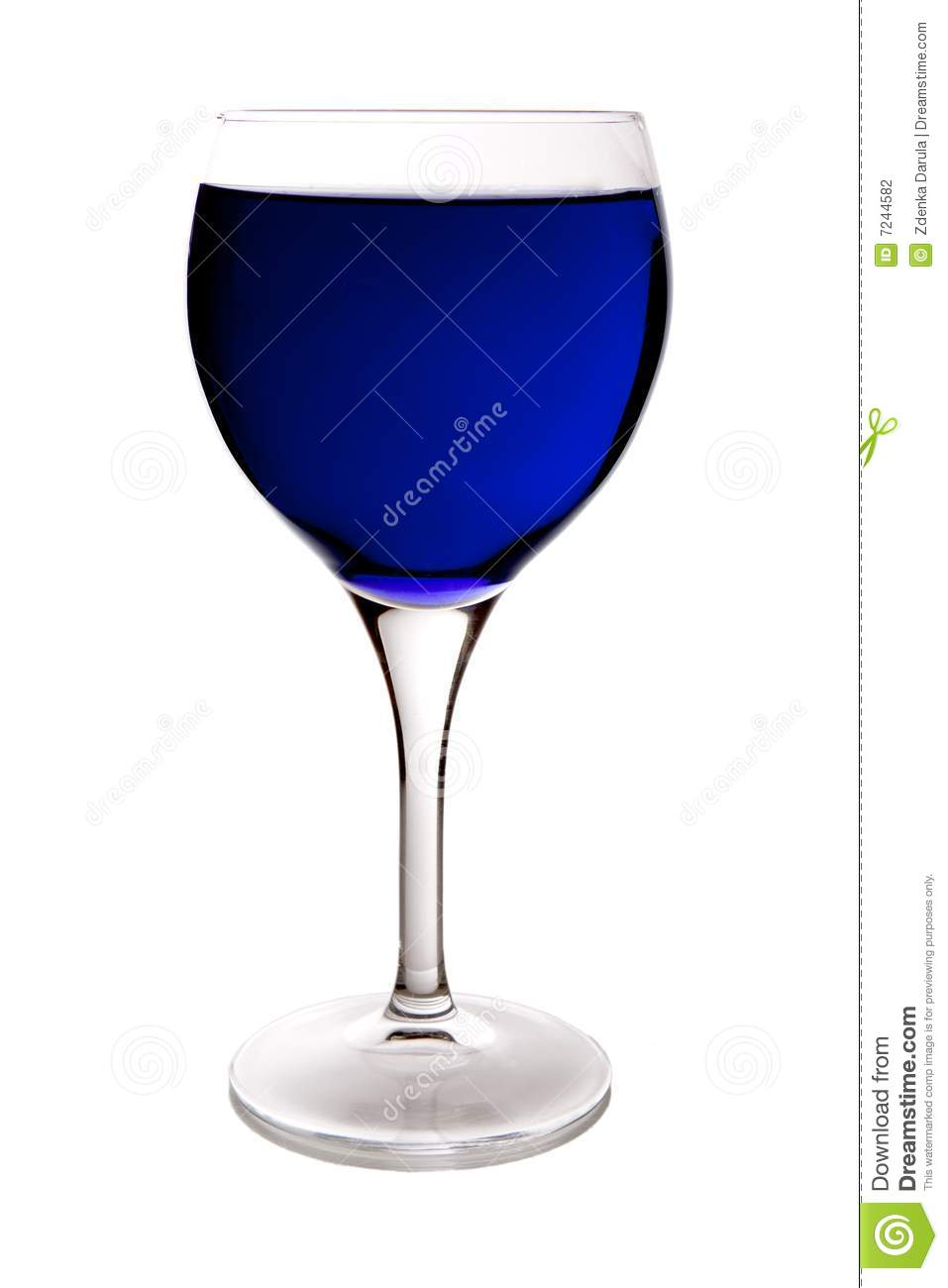 Wine Glasses Blue Wine Glass Stock Photography - Image: 7244582