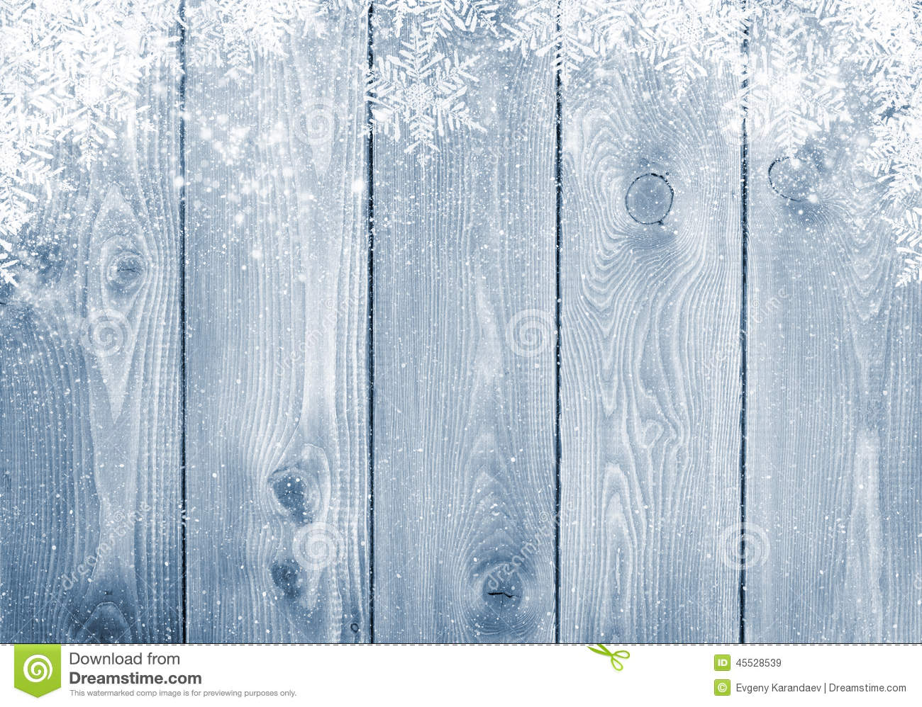 Free 3d Snow Falling Wallpaper Blue Wood Texture With Snow Stock Photo Image 45528539