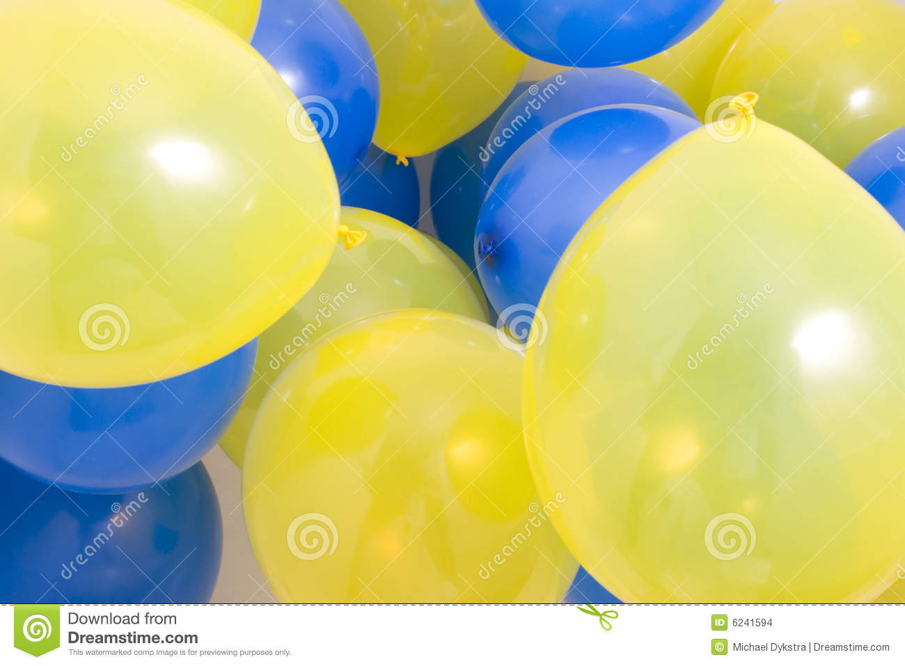 Animated Happy Birthday Wallpaper Free Download Blue And Yellow Balloons Background Stock Images Image