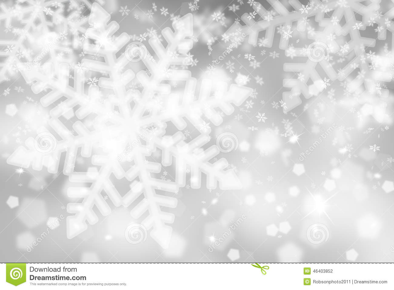 Fall Feather Wallpaper Blurry Silver Snowflake Background Stock Illustration