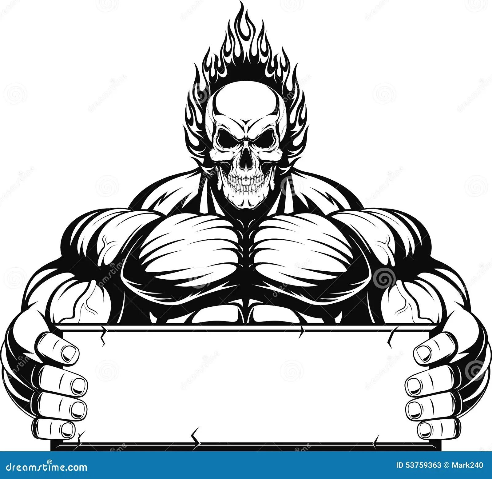 Gym 3d Wallpaper Bodybuilder Stock Vector Image 53759363