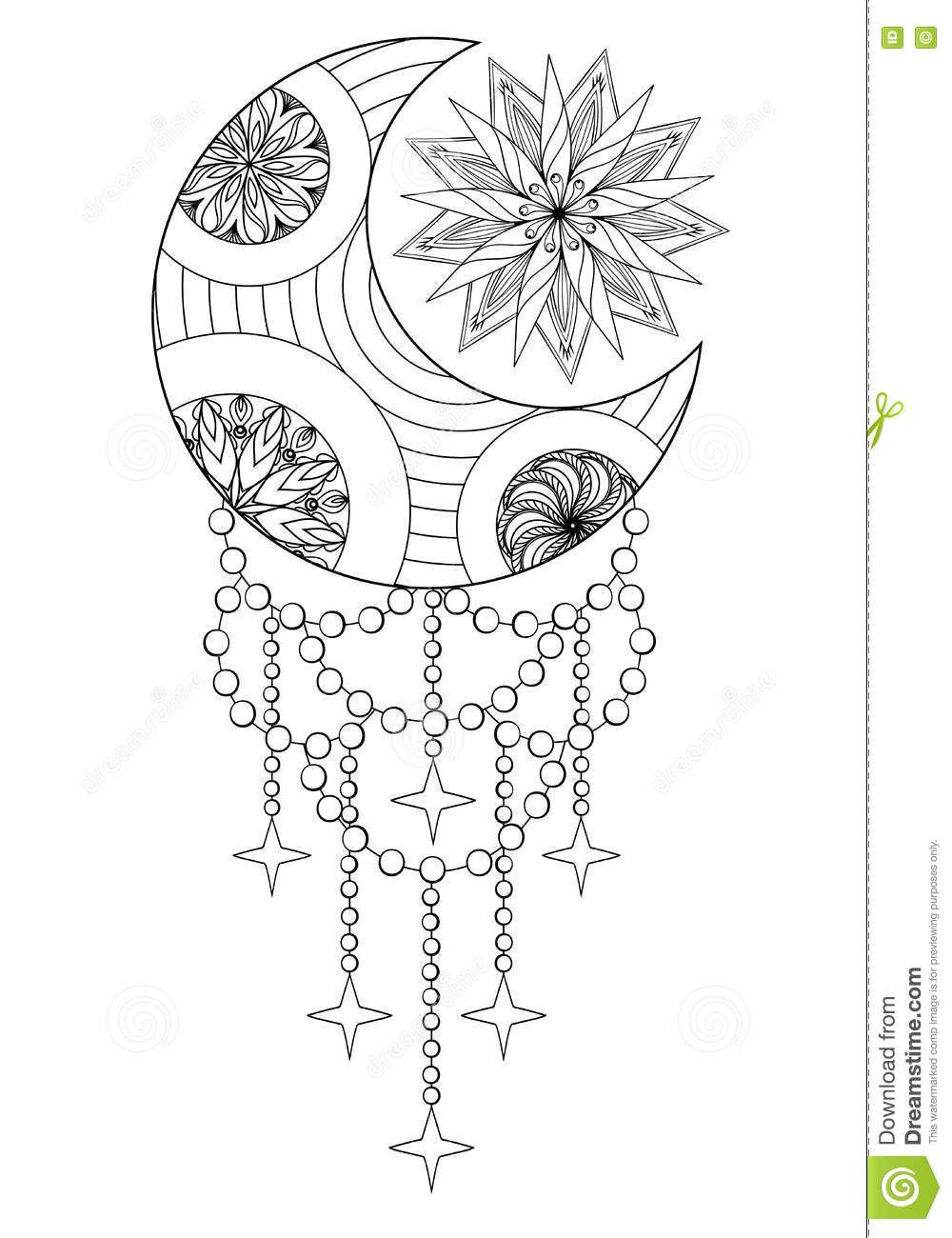 coloring pages sun moon and stars