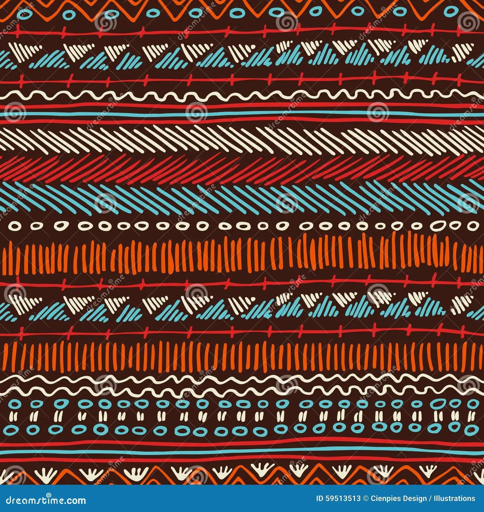 Cute Tribal Print Wallpaper Boho Seamless Pattern Tribal Vintage Background Stock