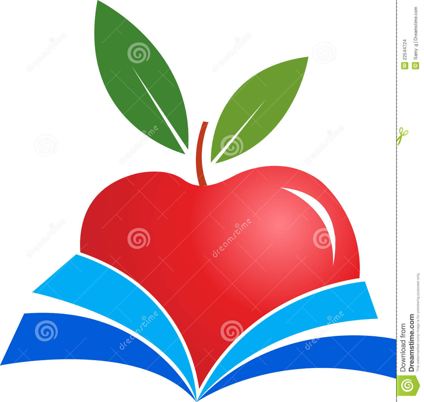 Libro Apple Book Apple Stock Vector Image Of Fruit Literature