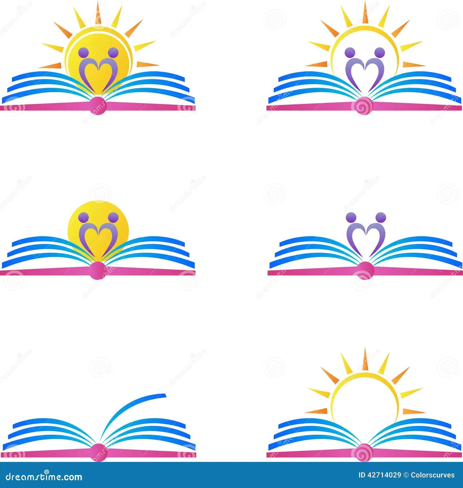 Royalty free vector book design logos
