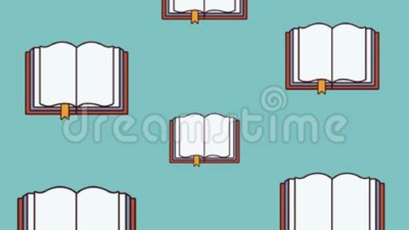 Books Falling Background HD Animation Stock Footage - Video of