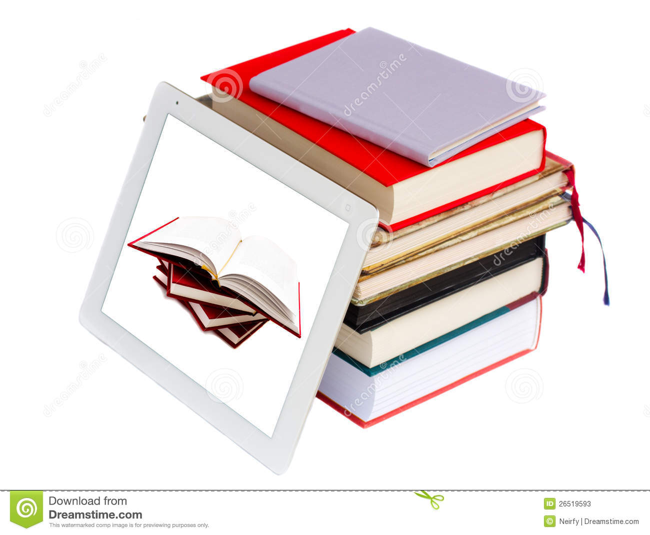 Tablett Modern Books And Modern Tablet Pc Stock Photos Image 26519593