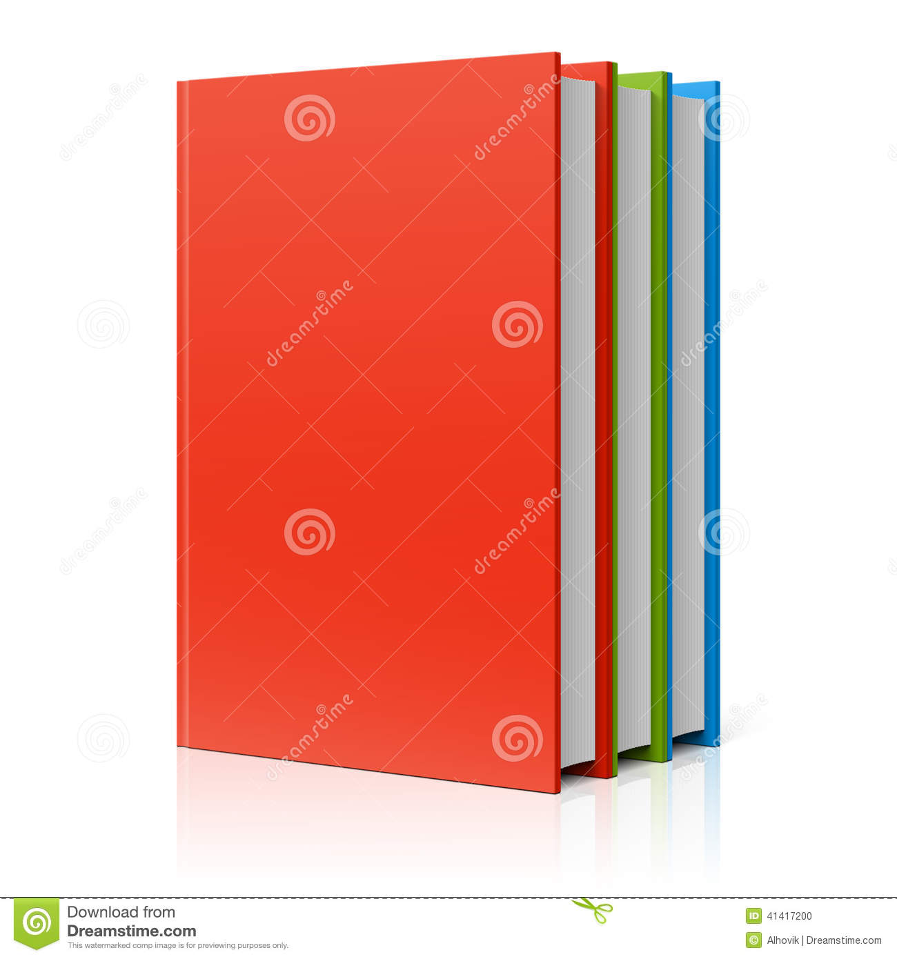 Row Of Books Vector Books Row Stock Vector Image 41417200