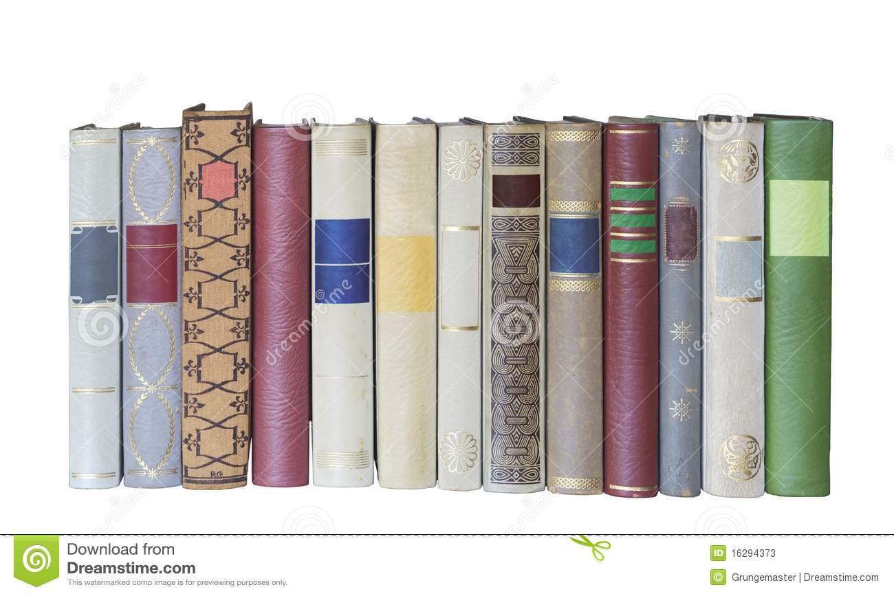 Row Of Books Vector Books In A Row Isolated Free Copy Space Stock Photos