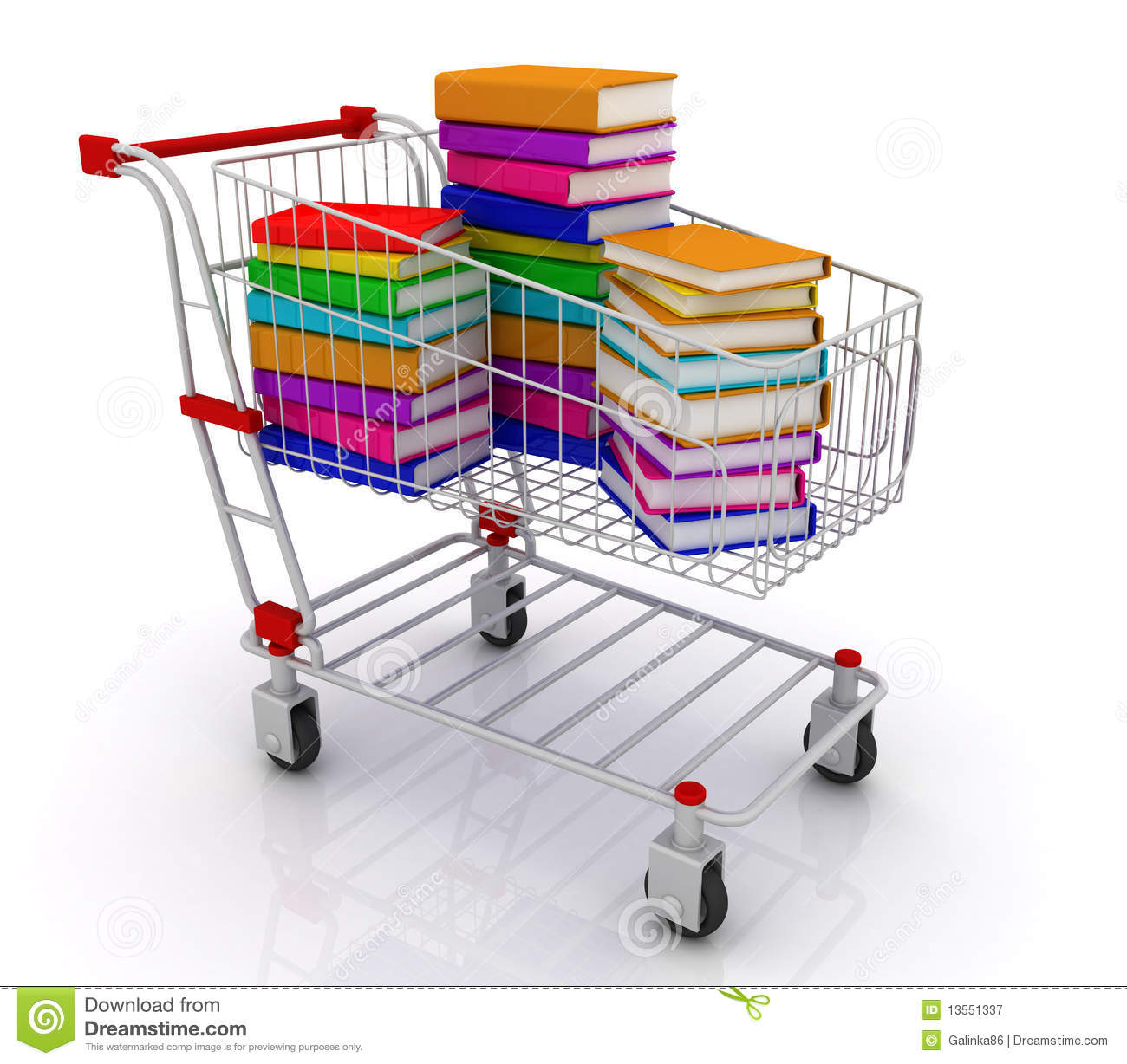Libros Electronicos Comprar Books In Shopping Cart Stock Illustration Illustration Of