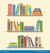 Bookshelf Stock Vector - Image: 42317568