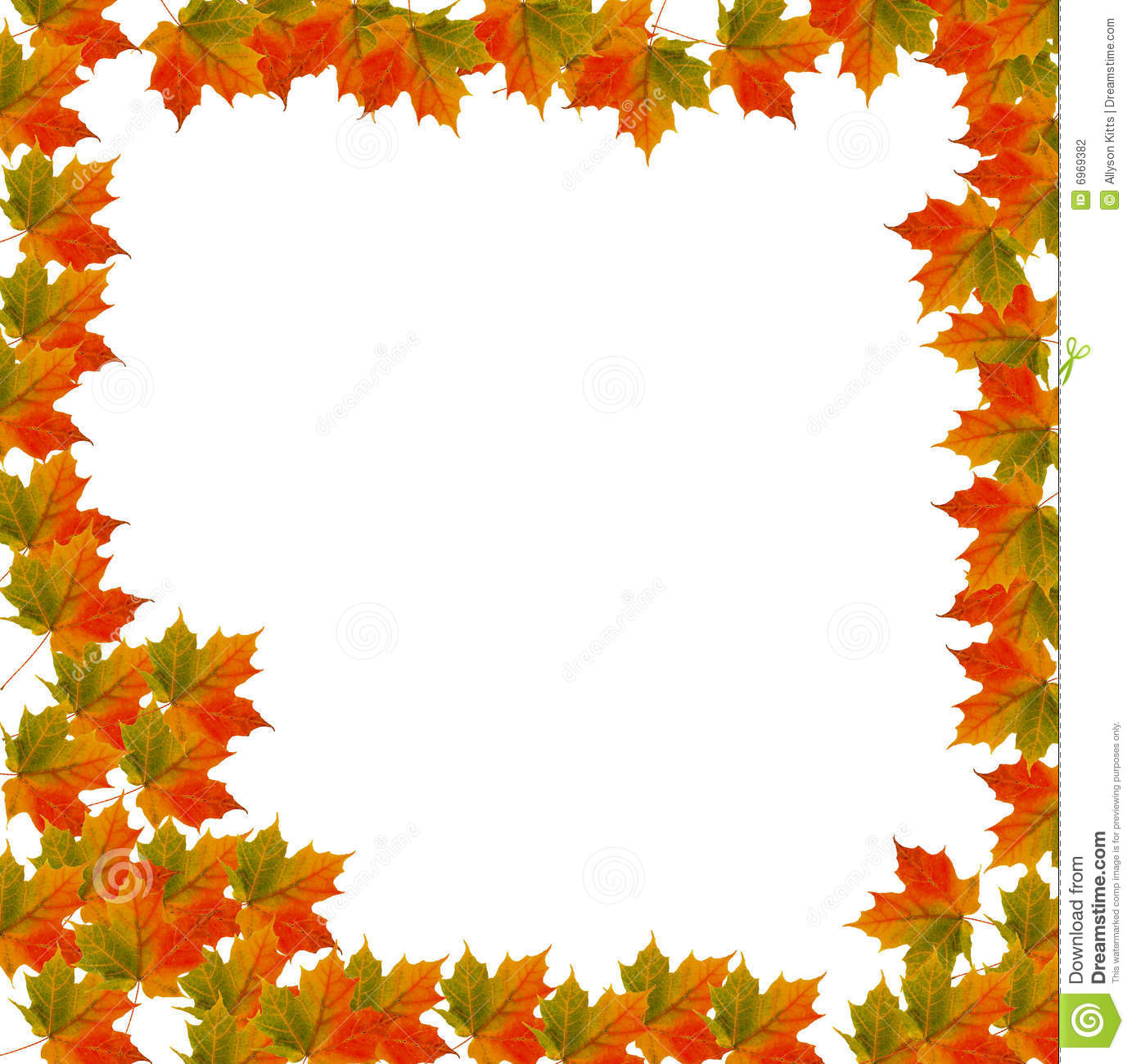 Fall Leaves Clip Art Wallpaper Border Leaf Background For Autumn Stock Photography