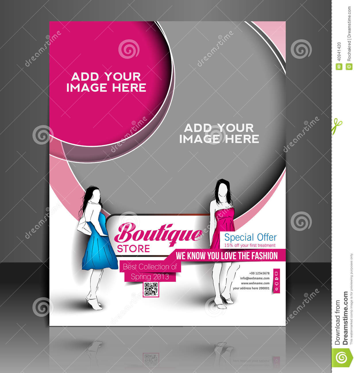 Store Banne Boutique Boutique Store Flyer Stock Vector Image Of Banner Icon