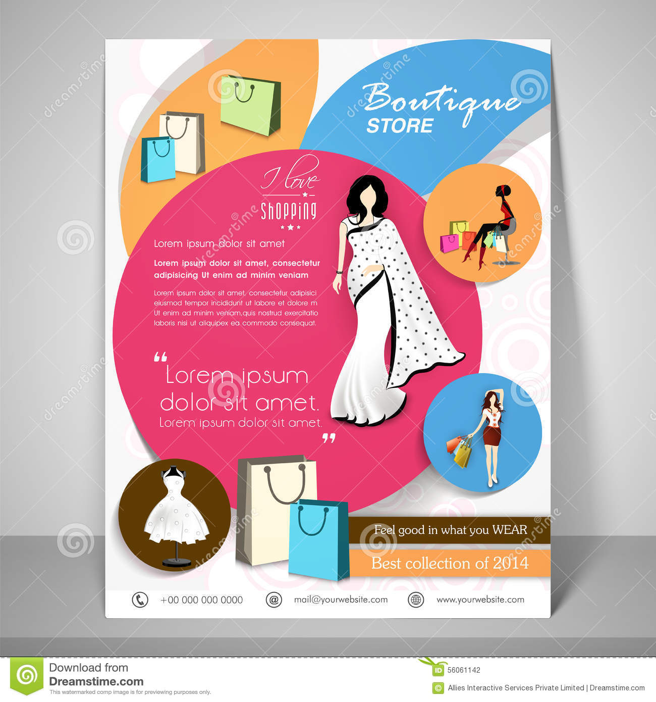 Store Banne Boutique Boutique Store Template Banner Or Flyer Design Stock
